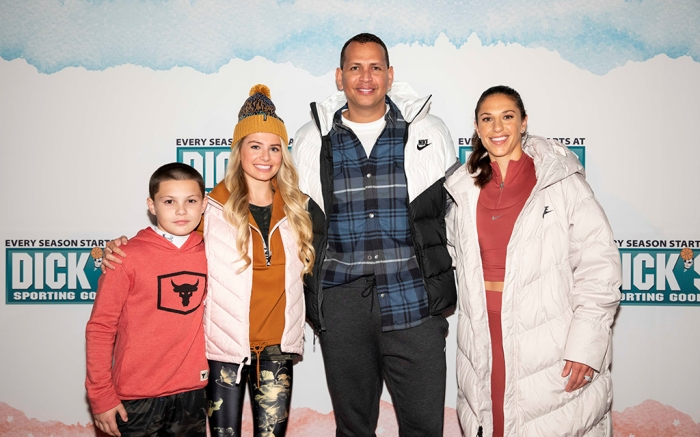 Javon Walton, Demi Burnett, Alex Rodriguez, Carli Lloyd, Dick's Sporting Goods fashion show NYC