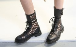 dior, spring 2020, fishnet boots, runway,
