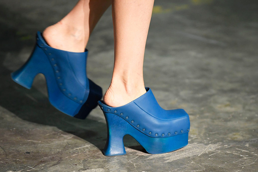Eckhaus Latta clogs, Paris Fashion Week, spring '20.