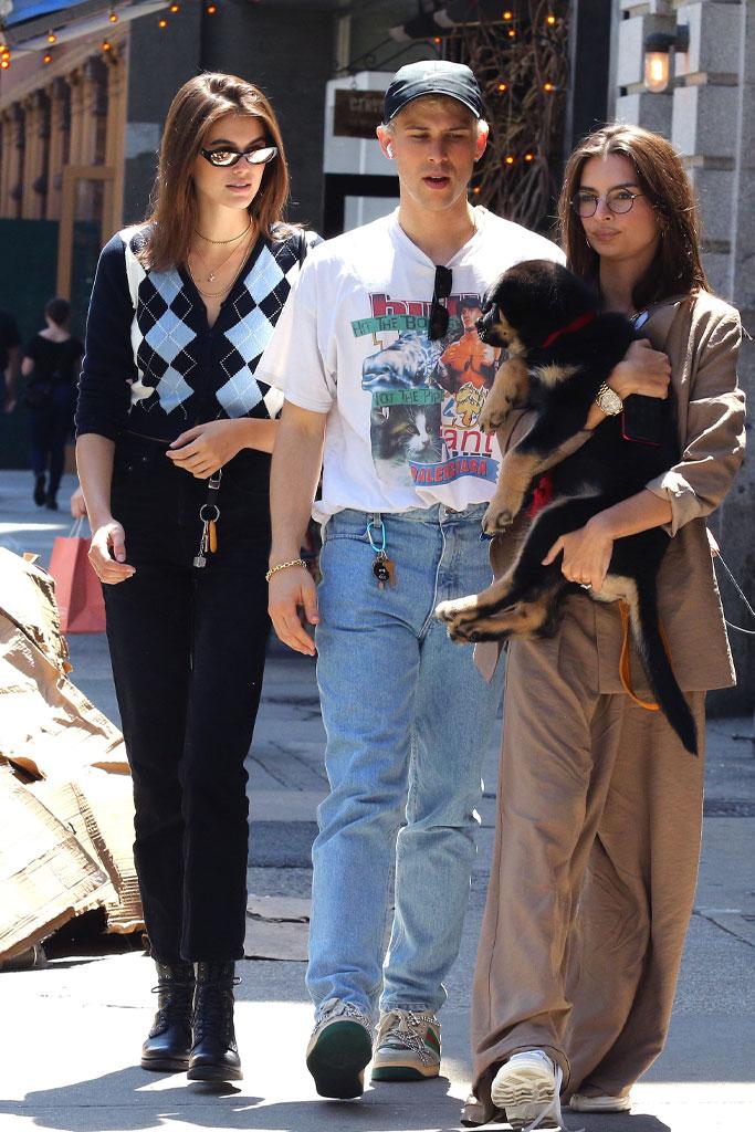 Kaia Gerber, Emily Ratajkowski, Ryan Shaver, NYC