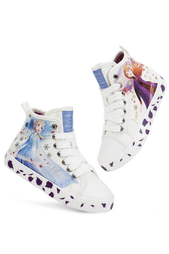 Disney x Geox, canvas sneakers, elsa, anna, frozen ii, high tops