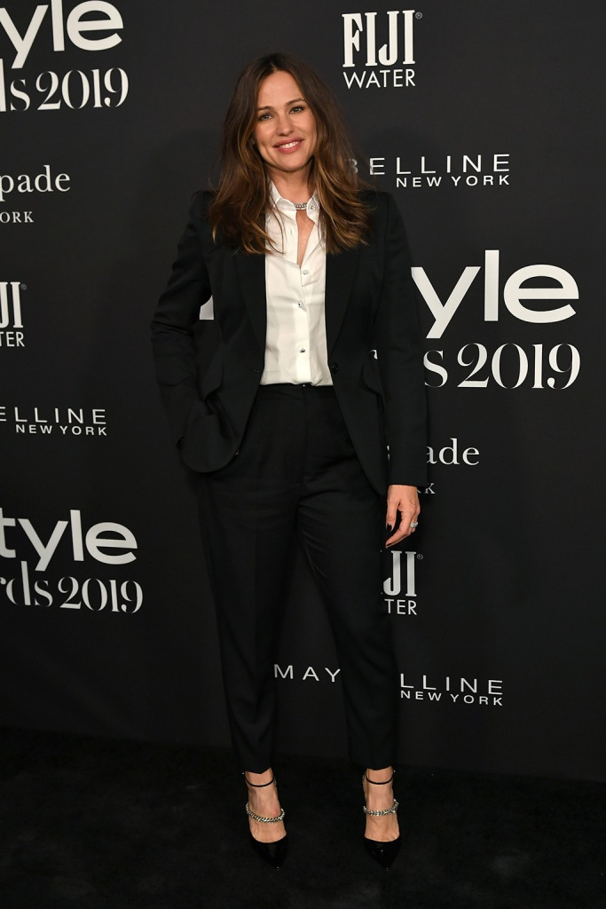 Jennifer Garner, jimmy choo shoes, pantsuit, bobbie, stilettos, 5th Annual InStyle Awards, Arrivals, The Getty Museum, Los Angeles, USA - 21 Oct 2019