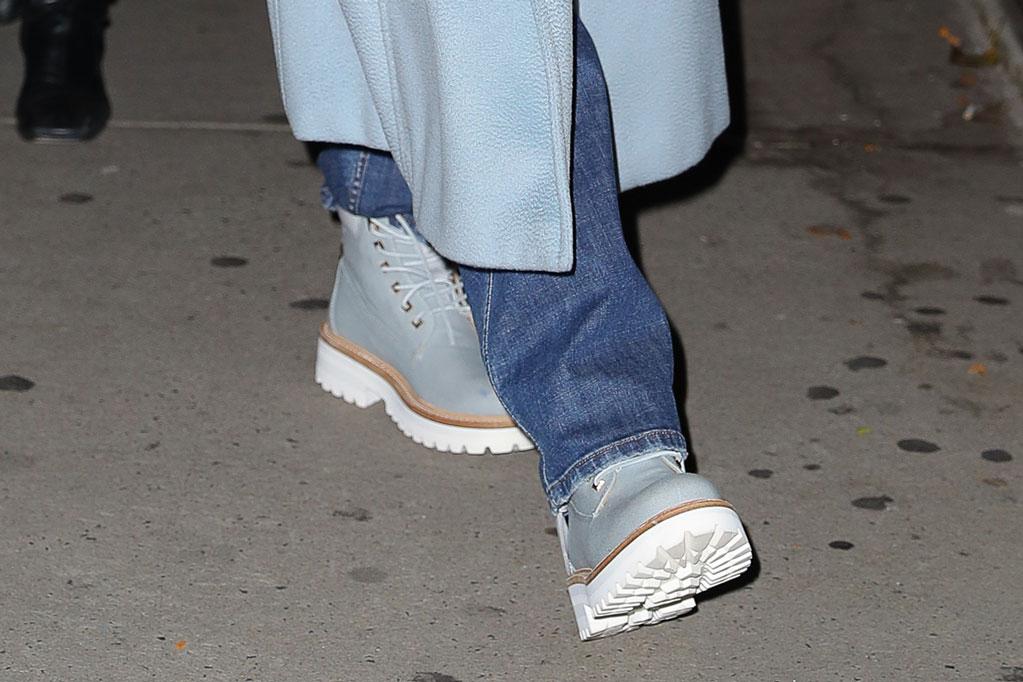 Jennifer Lopez, work boots, Buscemi, celebrity style, street style, New York city