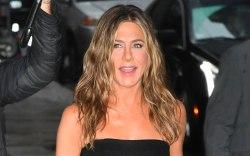 Jennifer Aniston, prada dress, black midi