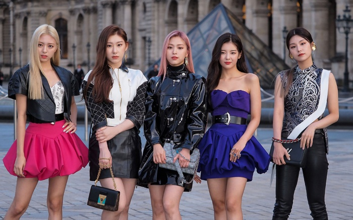 K pop Band, Itzy, in the front rowLouis Vuitton show, Front Row, Spring Summer 2020, Paris Fashion Week, France - 01 Oct 2019