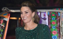 Kate Middleton, Jenny Packham, green dress,