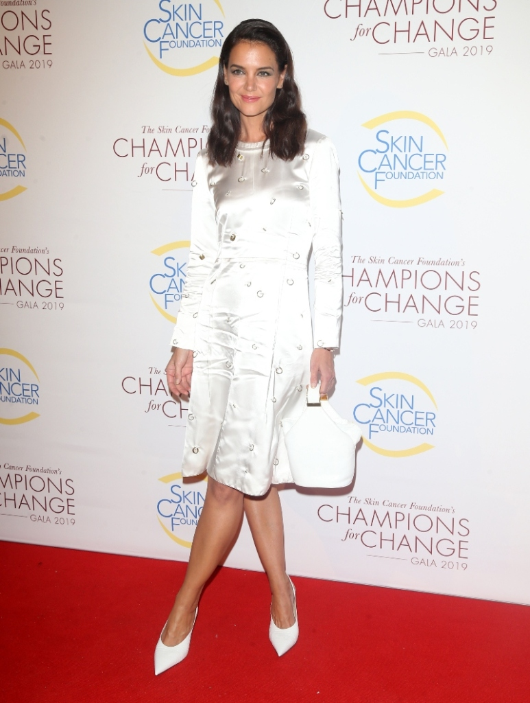 Skin Cancer Foundation Champions For Change Gala, katie holmes, all white