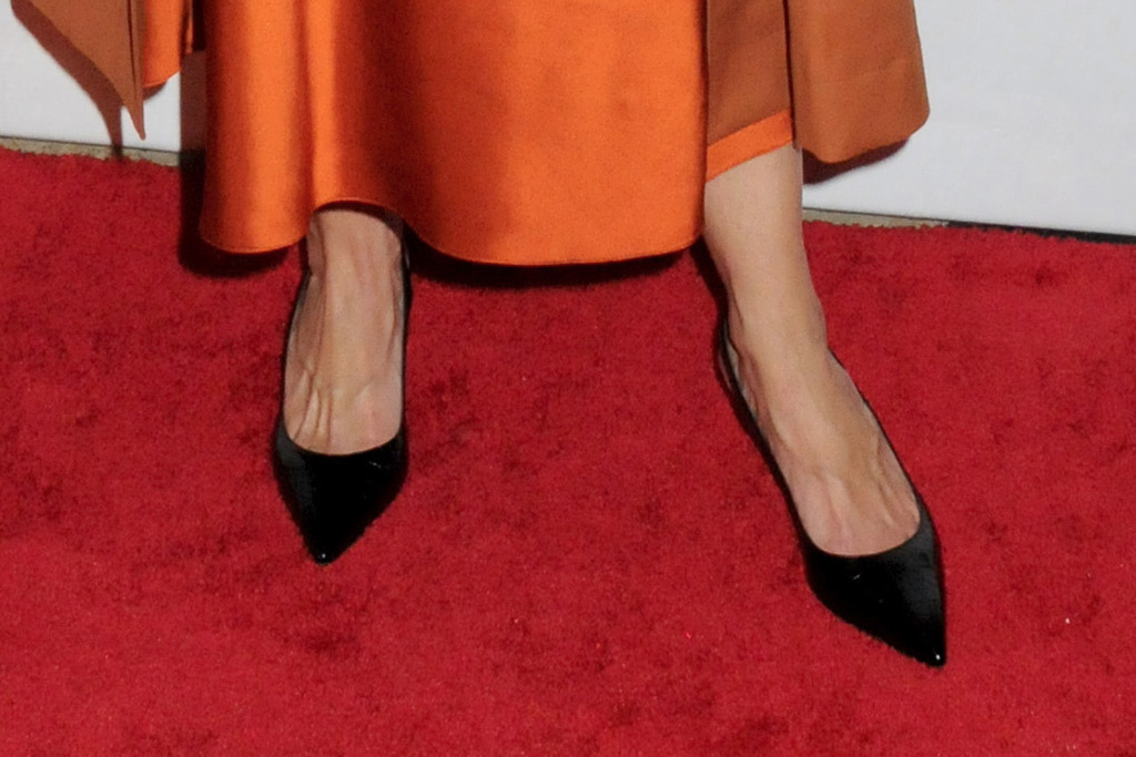 katie holmes, American Ballet Theatre 2019 Fall Gala, american ballet theatre, orange dress, black flats