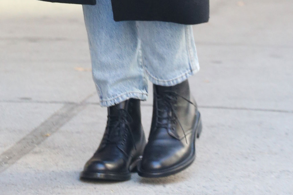 Katie Holmes, New York city, combat boots, street style, celebrity style,