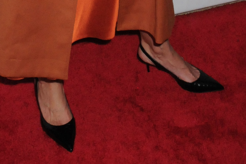 katie holmes, American Ballet Theatre 2019 Fall Gala, american ballet theatre, orange dress, black heels