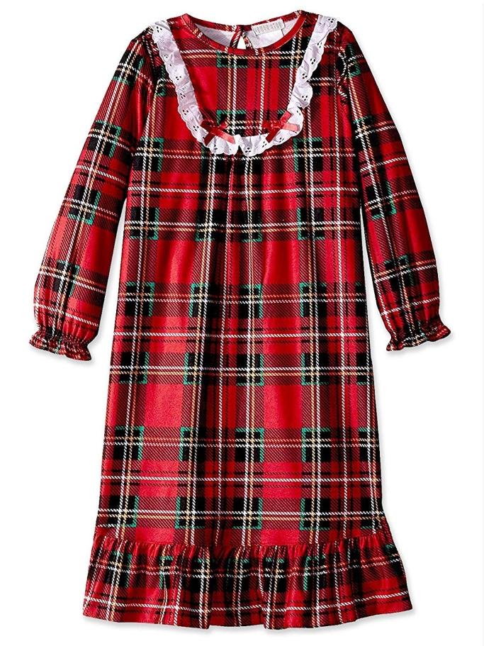 komar kids plaid nightgown
