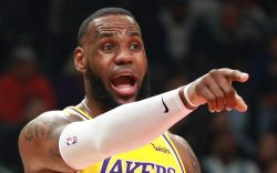 The Los Angeles Lakers' LeBron James
