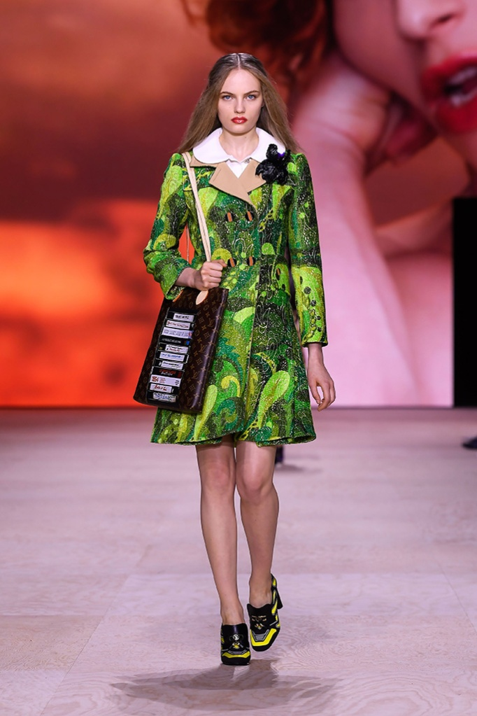 Model on the catwalkLouis Vuitton show, Runway, Spring Summer 2020, Paris Fashion Week, France - 01 Oct 2019