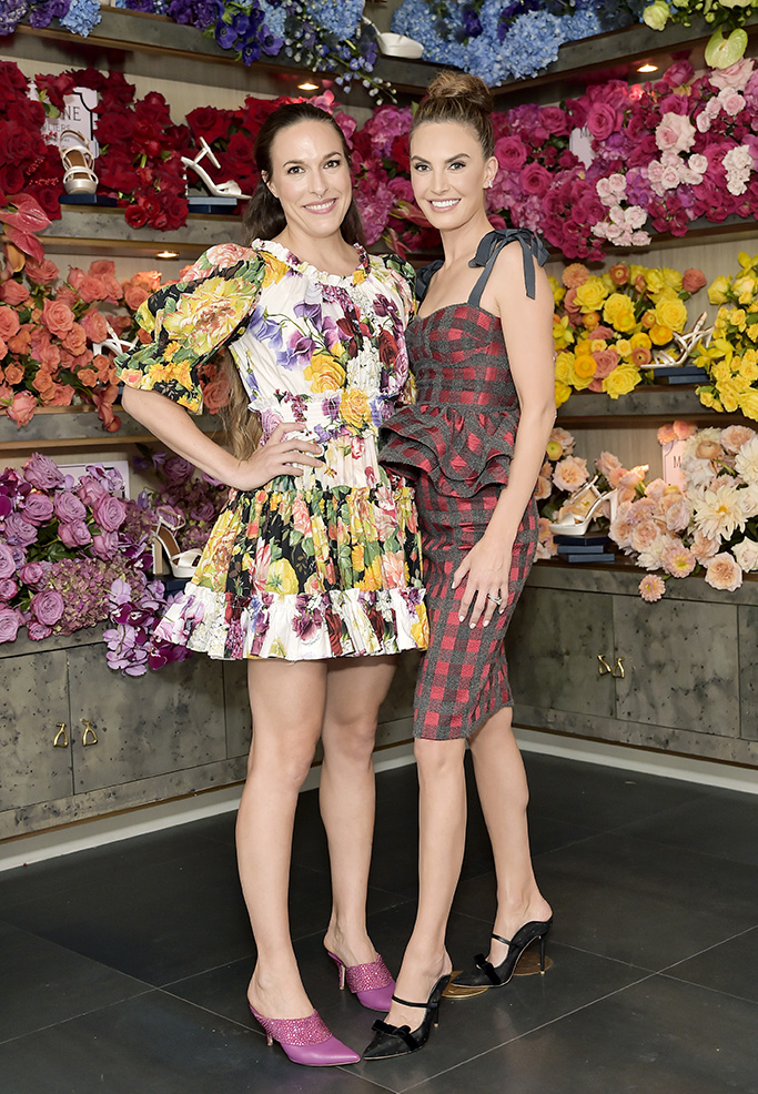 WEST HOLLYWOOD, CALIFORNIA - OCTOBER 17: Mary Alice Malone (L) and Elizabeth Chambers Hammer attend Mary Alice Malone and Elizabeth Chambers Hammer Celebrate the Launch of the Malone Souliers Red Carpet Capsule Collection at Eric Buterbaugh Floral on October 17, 2019 in West Hollywood, California. (Photo by Stefanie Keenan/Getty Images for Malone Souliers)