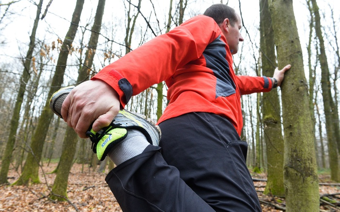 narrow feet, Man going running in the forestVarious - May 2014