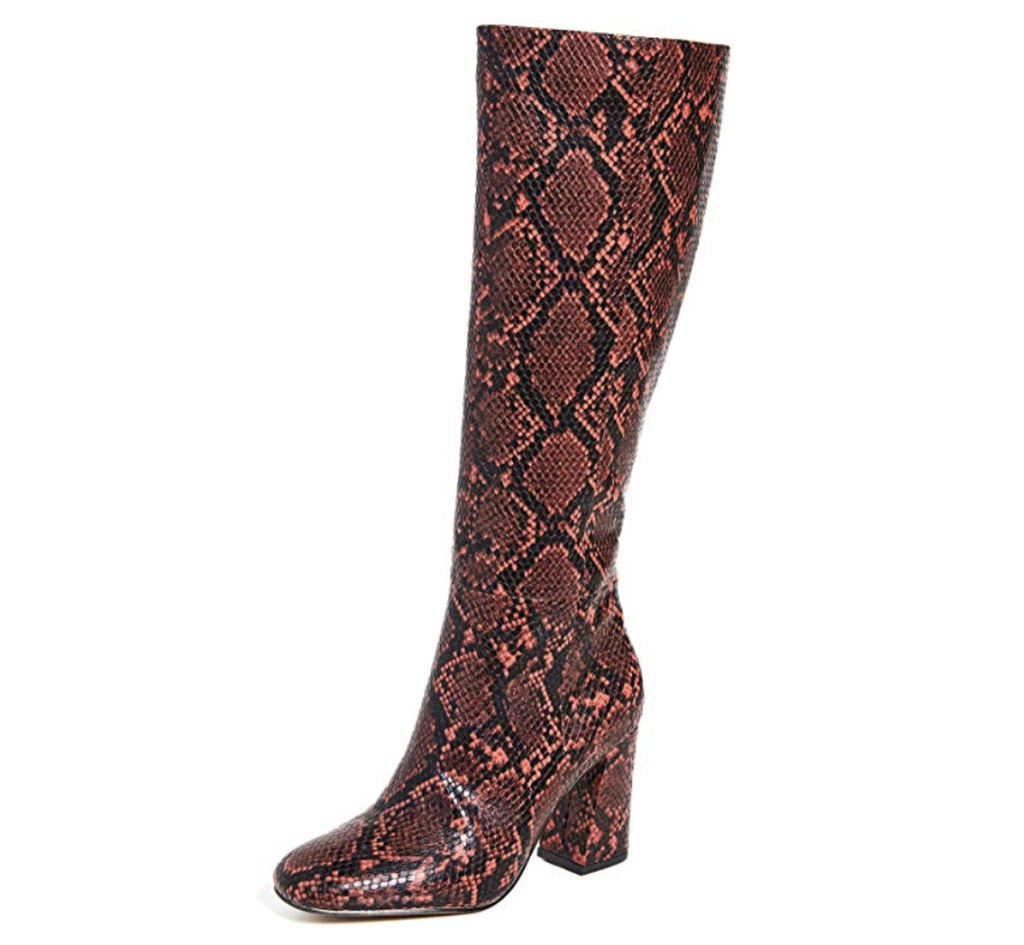 Matiko Alma Boots, snakeskin boots, red boots