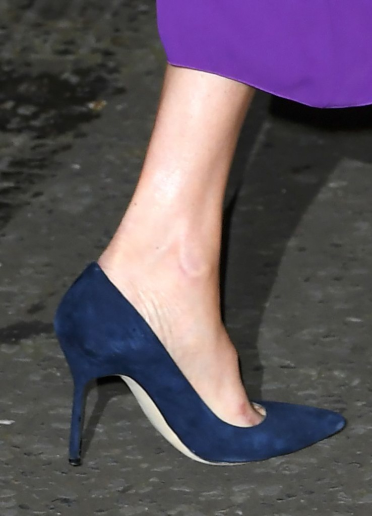 meghan markle, manolo blahnik bb pumps, manolo blahnik shoes, shoe detail, feet, blue suede shoes, Meghan Duchess of Sussex, shoe detailOne Young World Summit opening ceremony, Royal Albert Hall, London, UK - 22 Oct 2019The One Young World Summit is a global forum for young leaders, bringing together 2,000 young people from over 190 countries around the world to accelerate social impact. One Young World's mission is to create the next generation of more responsible and effective leadership.