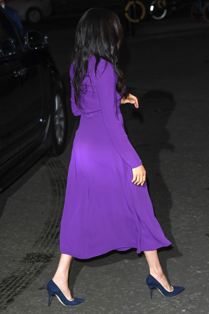 meghan markle, aritzia, babaton dress, purple dress, manolo blahnik shoes, blue suede pumps, celebrity style, royal style, british royal, Meghan Duchess of SussexOne Young World Summit opening ceremony, Royal Albert Hall, London, UK - 22 Oct 2019The One Young World Summit is a global forum for young leaders, bringing together 2,000 young people from over 190 countries around the world to accelerate social impact. One Young World's mission is to create the next generation of more responsible and effective leadership.Meghan Duchess of SussexOne Young World Summit opening ceremony, Royal Albert Hall, London, UK - 22 Oct 2019The One Young World Summit is a global forum for young leaders, bringing together 2,000 young people from over 190 countries around the world to accelerate social impact. One Young World's mission is to create the next generation of more responsible and effective leadership.