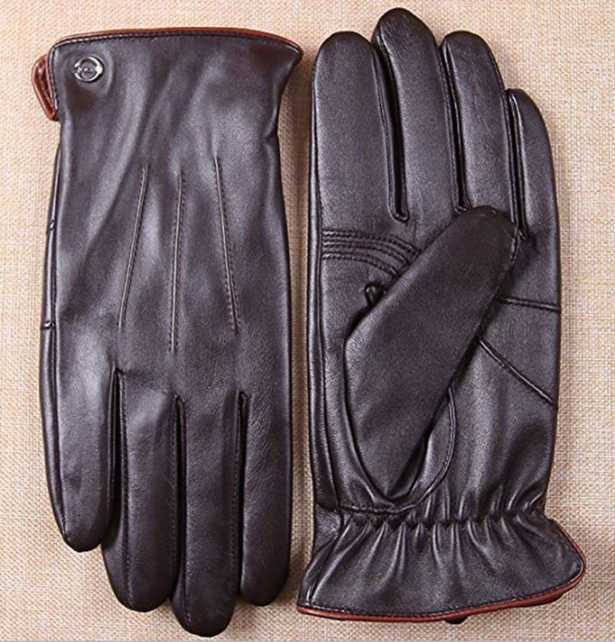 mens driving gloves, nappa leather