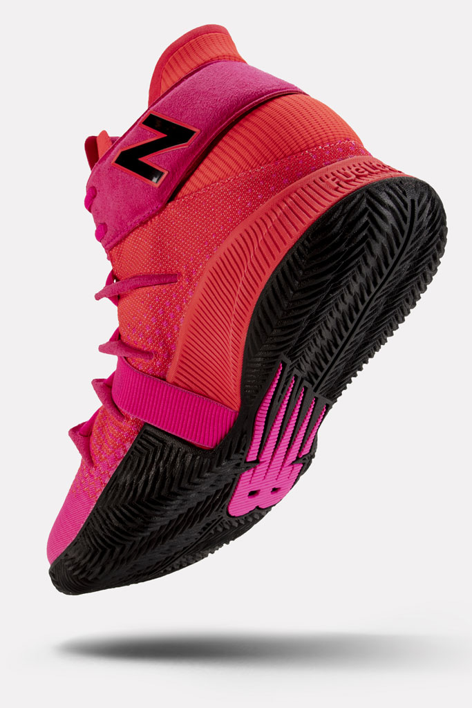 new balance, kawhi leonard, signature sneaker, OMN1S Heat Wave, red, pink