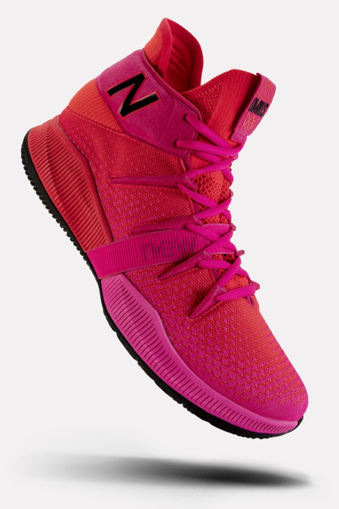 new balance, kawhi leonard, signature sneaker, OMN1S Heat Wave, red, pink
