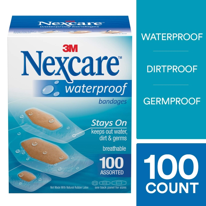 nexcare waterproof clear bandages