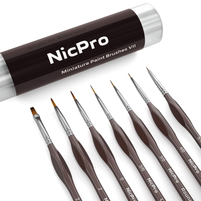 nicpro nail art brush set