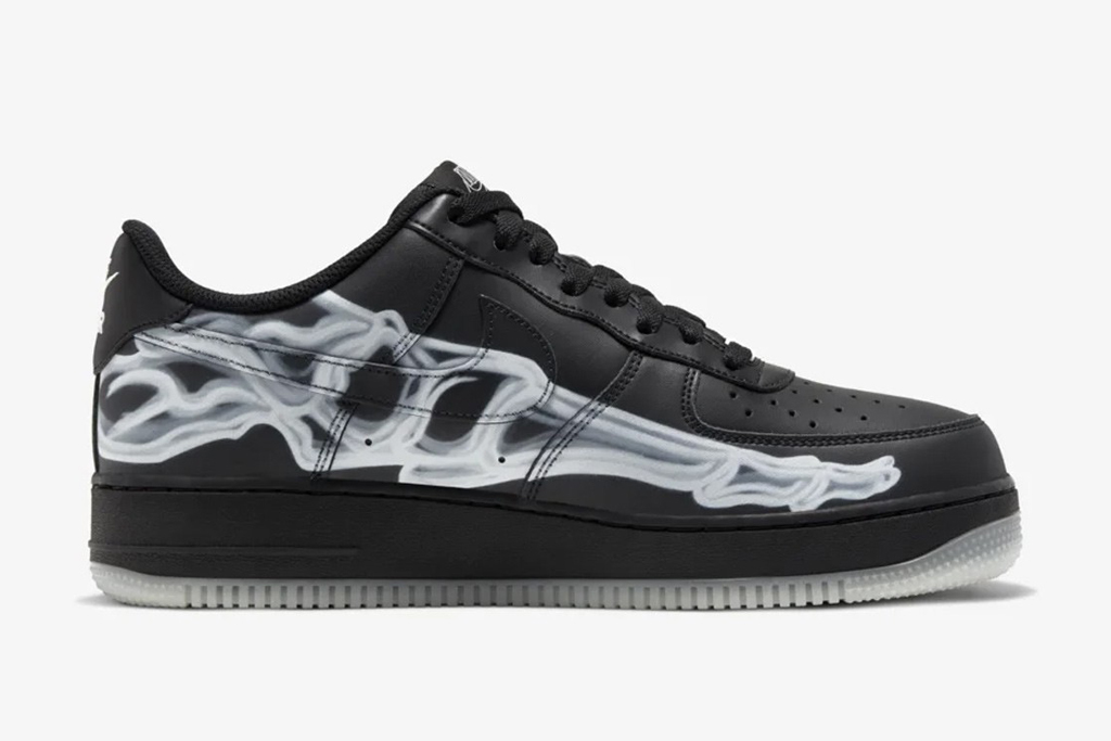 Nike's Black Skeleton Air Force 1 Shoe