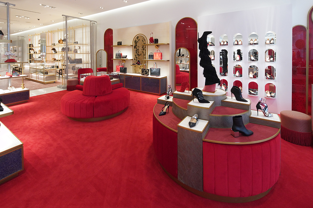 Christian Louboutin, nordstrom nyc, flagship, red, shoes,