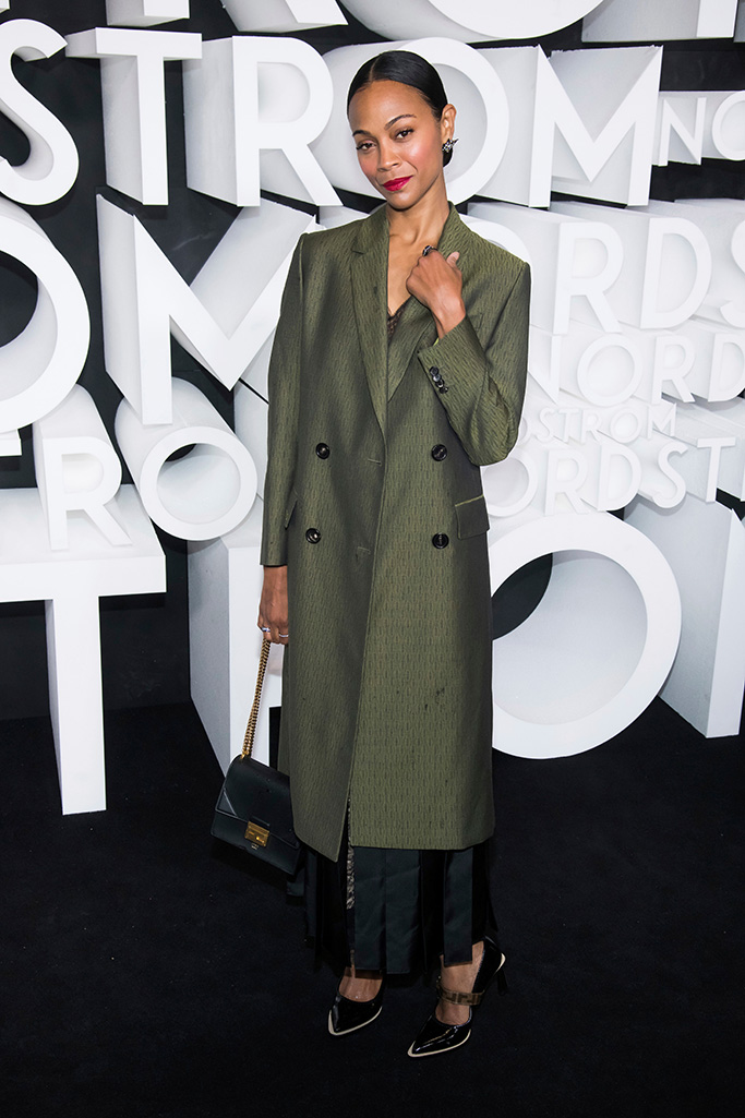Zoe Saldana attends the Nordstrom NYC Flagship store opening party, in New YorkNordstrom NYC Flagship Opening Party, New York, USA - 22 Oct 2019