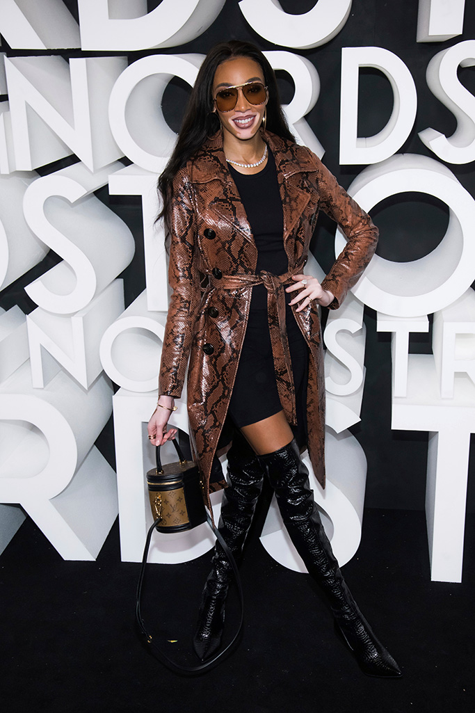 Winnie Harlow attends the Nordstrom NYC Flagship store opening party, in New York Nordstrom NYC Flagship Opening Party, New York, USA - 22 Oct 2019