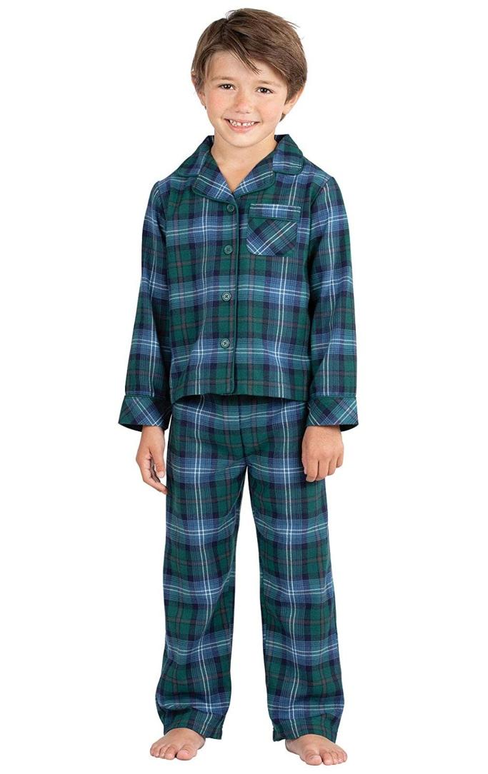 pajamagram heritage plaid button front boys pajamas