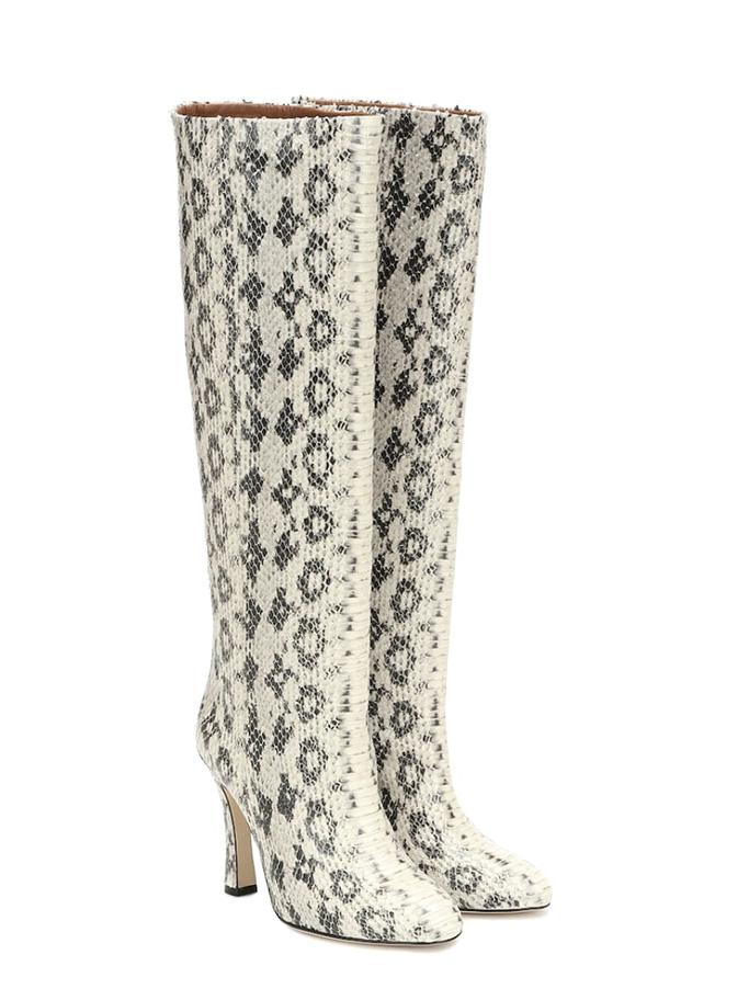 Paris Texas boots, snake effect boots, snake skin boots