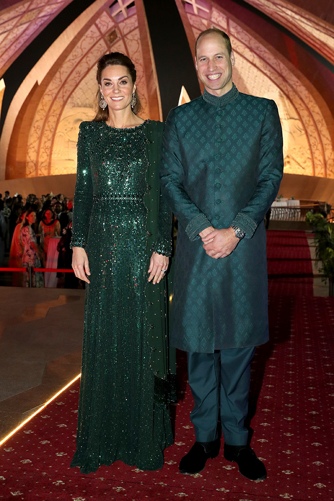 Catherine, Catherine Duchess of Cambridge and Prince William, Prince William pose as they attend a special reception hosted by the British High Commissioner Thomas Drew, at the Pakistan National Monument, during day two of their royal tour of PakistanPrince William and Catherine Duchess of Cambridge visit to Pakistan - 15 Oct 2019