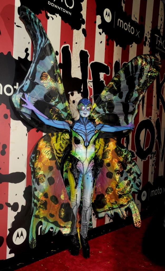Heidi Klum, Heidi Klum's Halloween Party, Halloween, costumes, butterfly