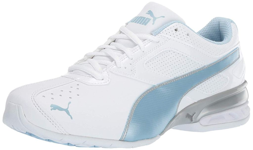puma sneakers, Puma women's Tazon 6 cross-trainer shoe, white and blue, wide running shoes