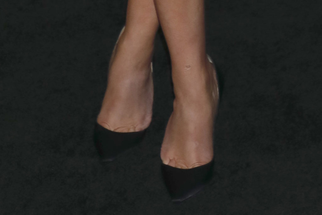 Reese Witherspoon, shoe detail, black pumps, celine dress, sparkly dress, legs, celebrity style, christian louboutin, stilettos, black pumps, 'The Morning Show' TV show premiere, Arrivals, Lincoln Center's David Geffen Hall, New York, USA - 28 Oct 2019Wearing Celine
