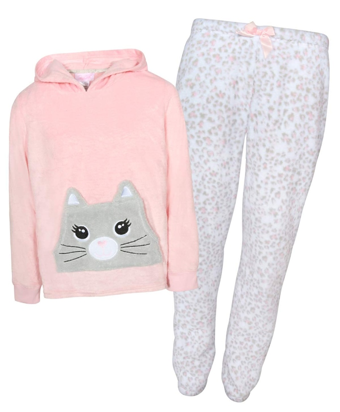 rene rofe fleece pajama set with hoodie