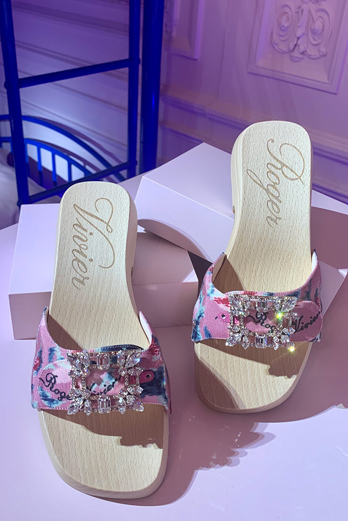 Roger Vivier clogs, Paris Fashion Week, spring '20.