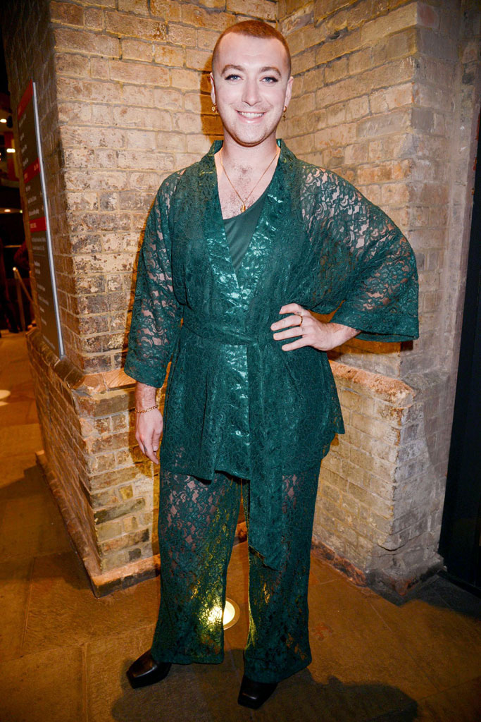 Sam Smith, attitude awards, London, roundhouse, celebrity style, lingerie, lace outfit, MENAGERIÉ INTIMATES