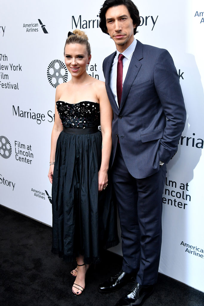 Scarlett Johansson, Adam Driver, Marriage Story, New York Film Festival, PVC Heels
