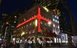 Cartier holiday display on Fifth Avenue