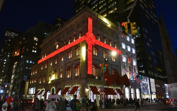 Cartier holiday display on Fifth Avenue in New York.Manhattan Christmas Decorations, New York, USA - 07 Dec 2018