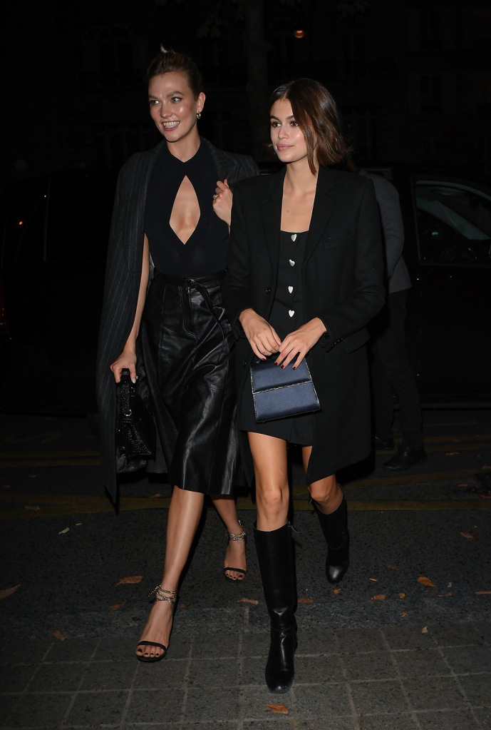 Karlie Kloss and Kaia GerberKarlie Kloss and Kaia Gerber out and about, Paris Fashion Week, France - 25 Sep 2019