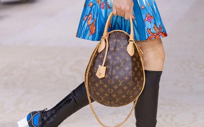 Model on the catwalk - DetailLouis Vuitton show, Runway, Spring Summer 2020, Paris Fashion Week, France - 01 Oct 2019