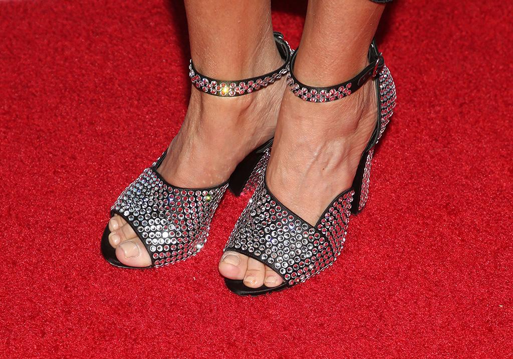 Kristin Chenoweth, feet, pedicure, celebrity style, shot shot, crystal-covered sandals, shoe detailAmerican Humane Hero Dog Awards, Arrivals, Los Angeles, USA - 05 Oct 2019