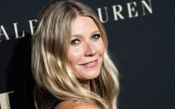 Gwyneth Paltrow poses on the red