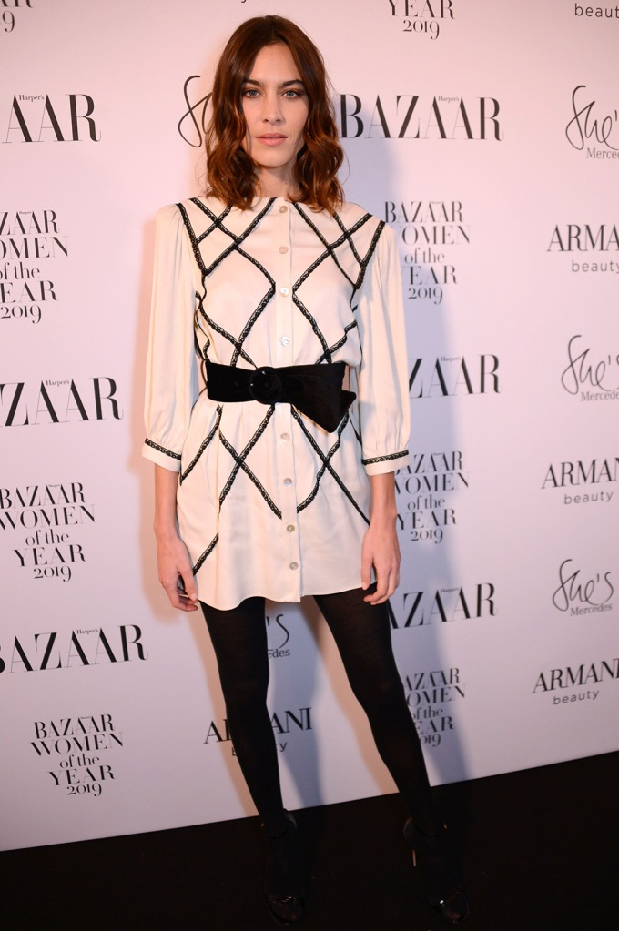 Alexa ChungHarper's Bazaar Women of the Year Awards, Claridge's, London, UK - 29 Oct 2019