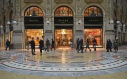 Prada store, luxury shopping arcade Galleria