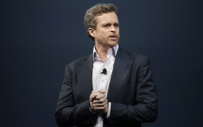Mark Parker Nike CEO Mark Parker speaks during a presentation in New York, . NFL has unveiled its new sleek uniforms designed by Nike. They showed off the new look in grand style Tuesday with a gridiron-styled fashion show at a Brooklyn film studioNFL Uniforms Football, New York, USA